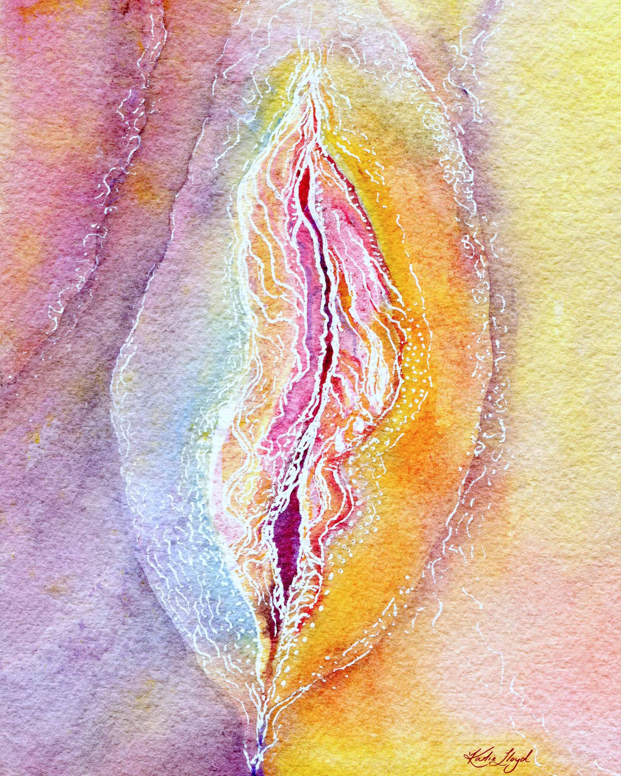 rainbow vagina painting